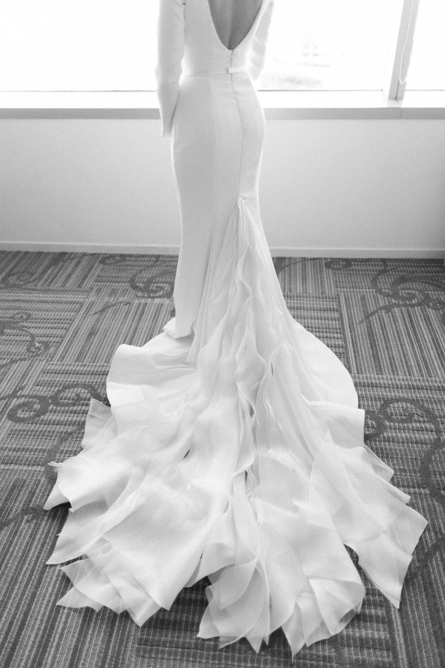 Downtown L.A. Wedding with Rooftop Views   Modest wedding dresses ...