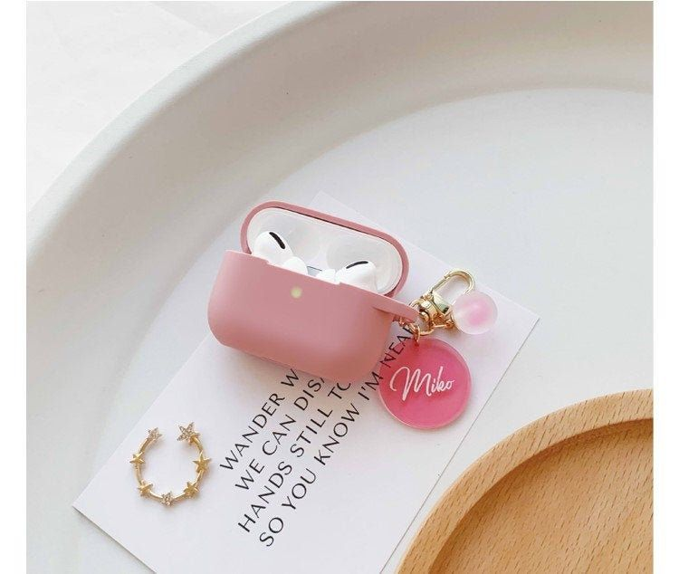 Custom Airpods Pro Case Name Airpod Case With Cute Circle Etsy Airpod Case Airpods Pro Case