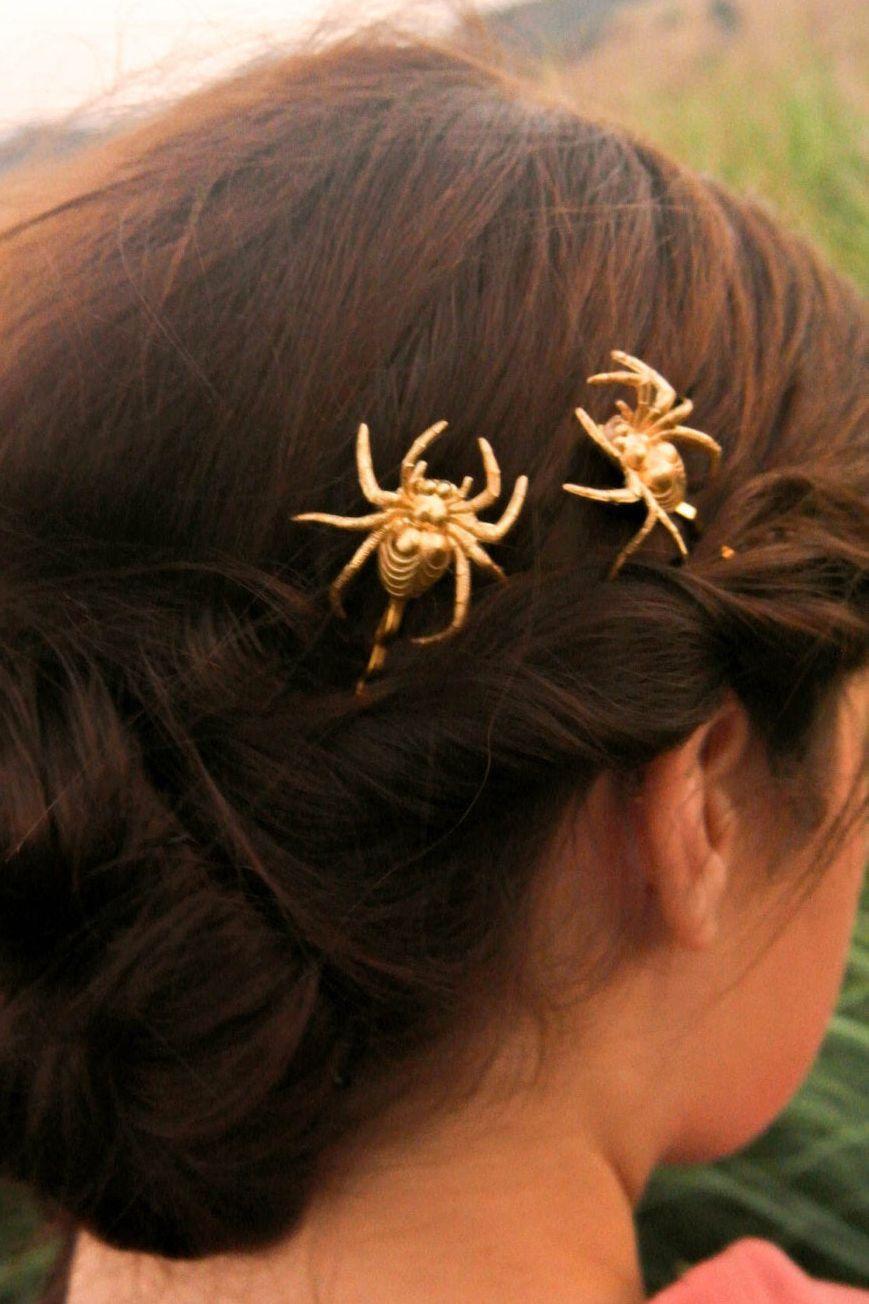 Spooky Shimmering Halloween Hair Barrette Halloween Hair Clip