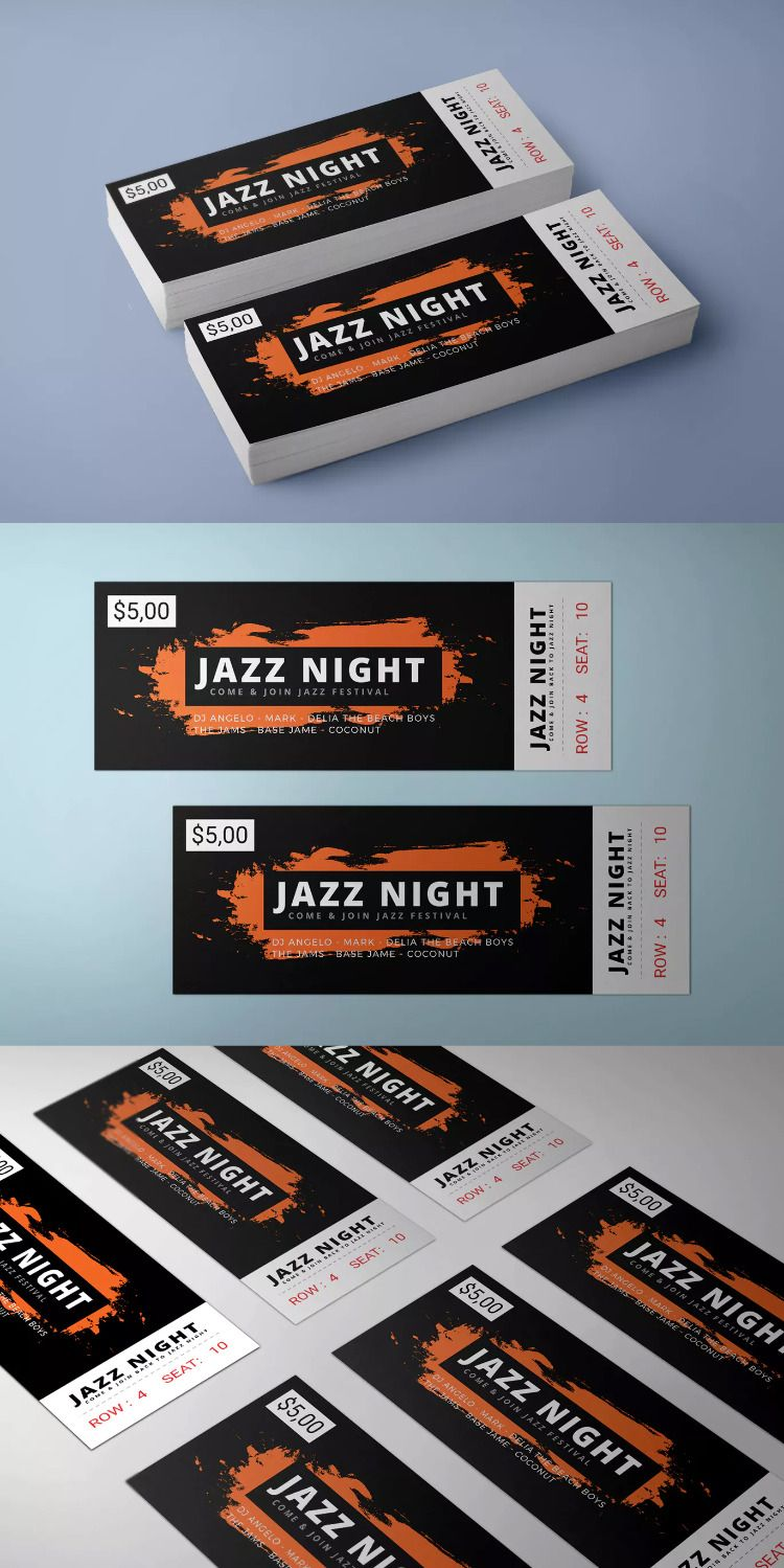 Music Event Ticket Template By Afahmy On Event Ticket Template