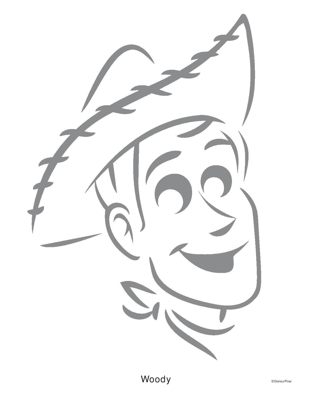 Woody Toy Story Pumpkin Stencil