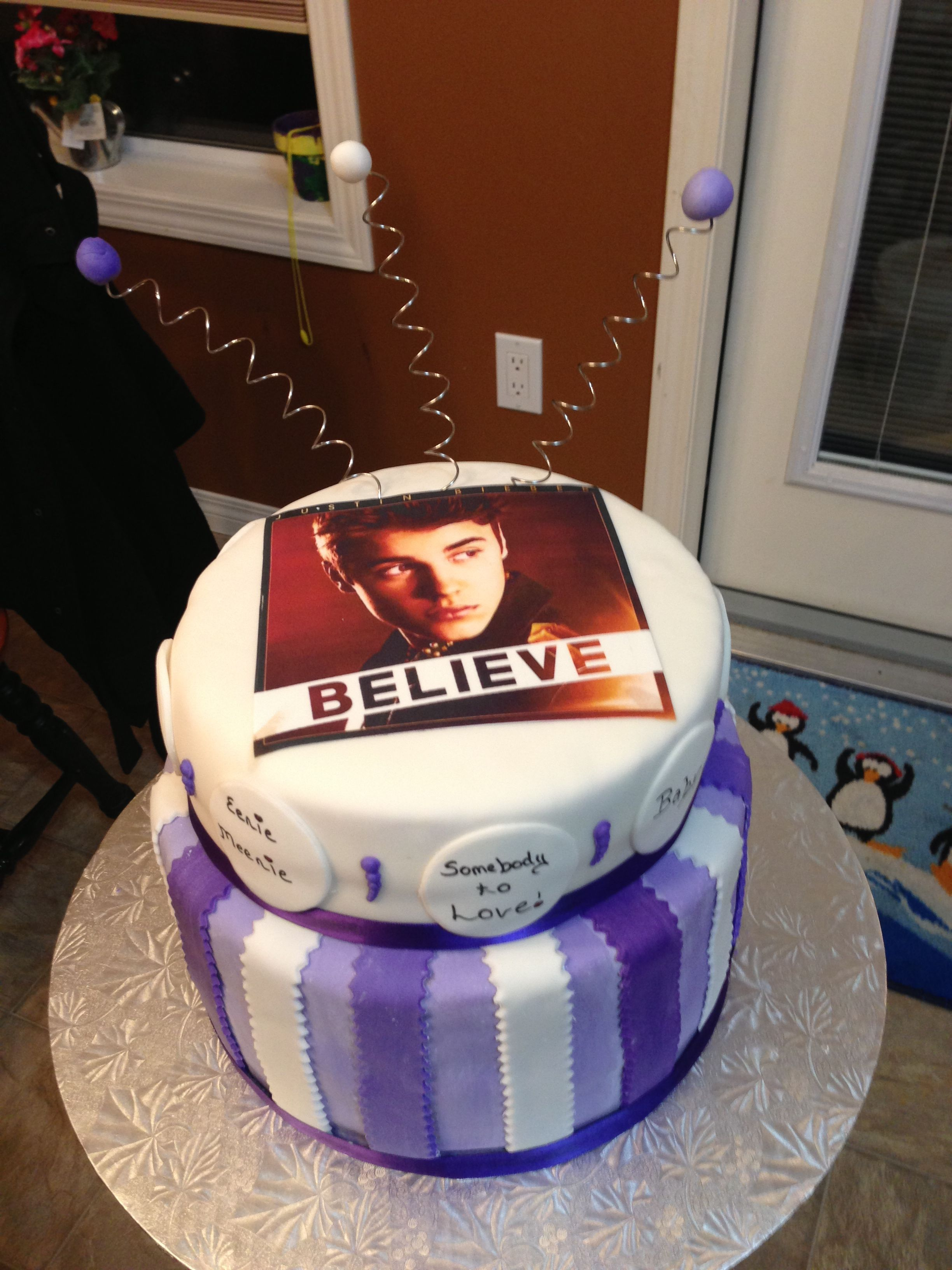 Justin Bieber Believe Cake With Images Justin Bieber Cake