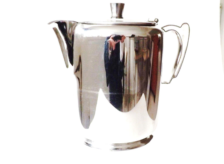 Midcentury Stainless Steel Coffee Pot, Retro Serveware, 60s Scandi Style,  Old Hall Kitchenware