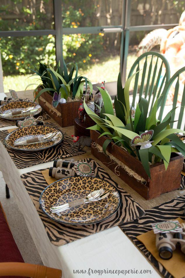Jungle Safari Birthday Party Ideas Fabulous Pinterest