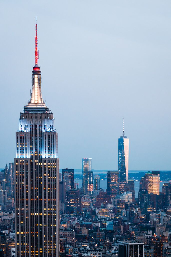 Empire State Building And Freedom Tower Places In New York New York Landmarks Iconic Buildings