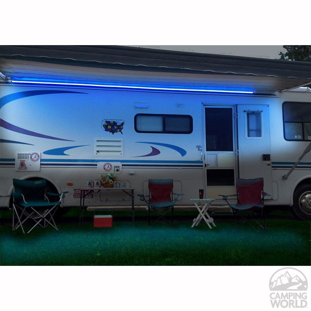 Description Warm LED Awning Lights Permanently Install On Your RV Sidewall Under To Extend Activities Bright Add Safety And Security With Low