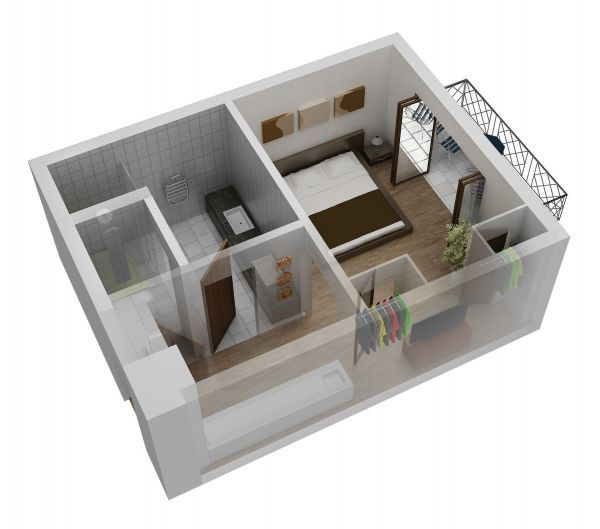 Small Studio Apartment Floor Plans small one room apartment | 1 bed 1 bath | sims house ideas