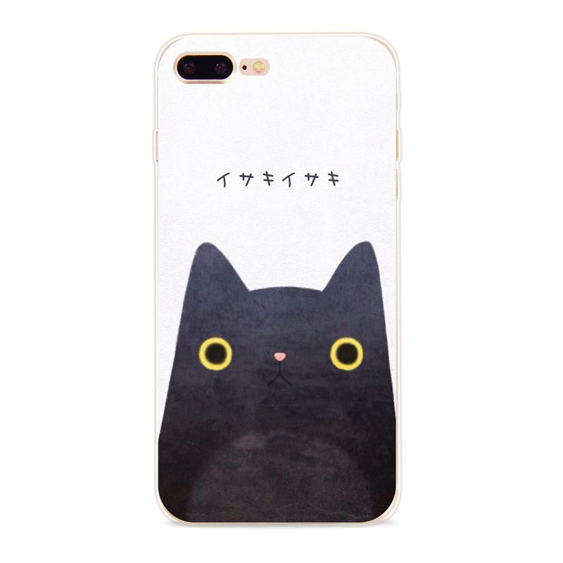 Case For Apple iPhone 6 6s 5S 7 6Plus 7Plus Phone Bag Japanese Style Boy Girl Animal Soft TPU Transparent Back Cover Capa Coque   iPhone Covers Online