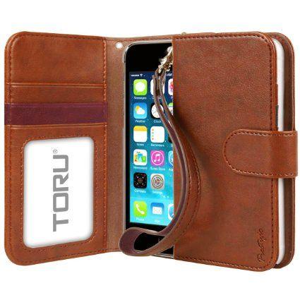 newest 167f5 3a413 Amazon.com: iPhone 5S Case, TORU [Prestizio Wallet] iPhone SE Wallet ...