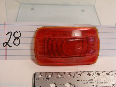 "1940 Plymouth Red glass light lens with 1/8"" rim $10.00"
