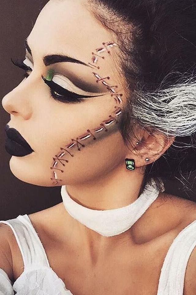 Pin by Tia Slusher on This is Halloween Pinterest Frankenstein - easy makeup halloween ideas