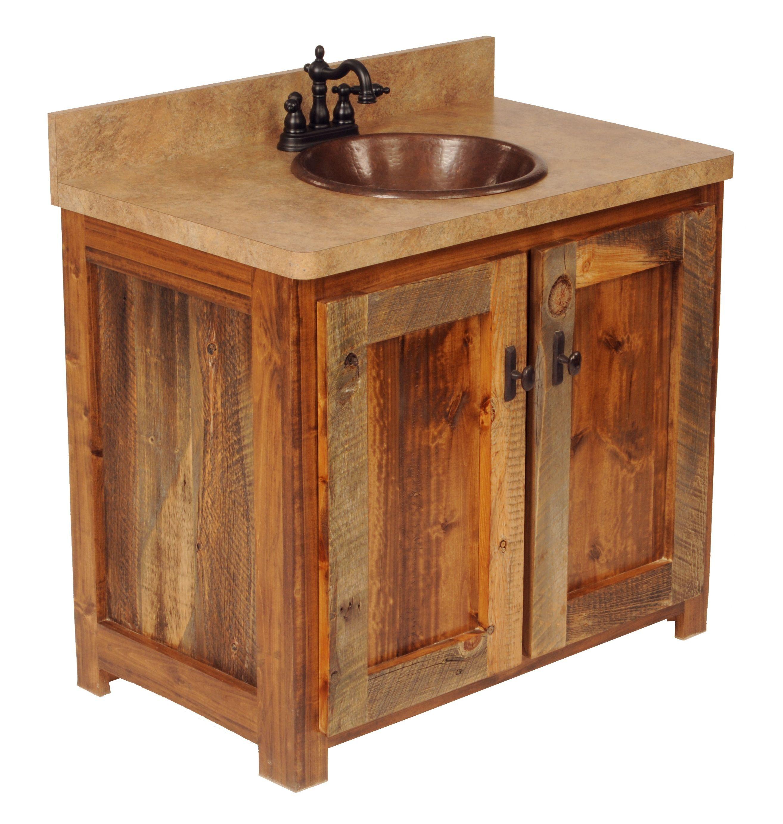 hickory Wood bathroom vanity, Rustic bathroom