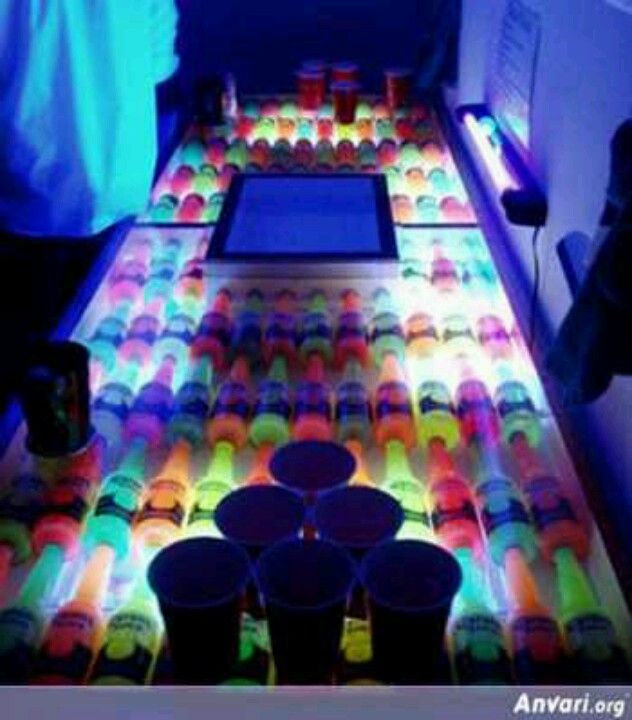 Neon Corona Beer Pong Table