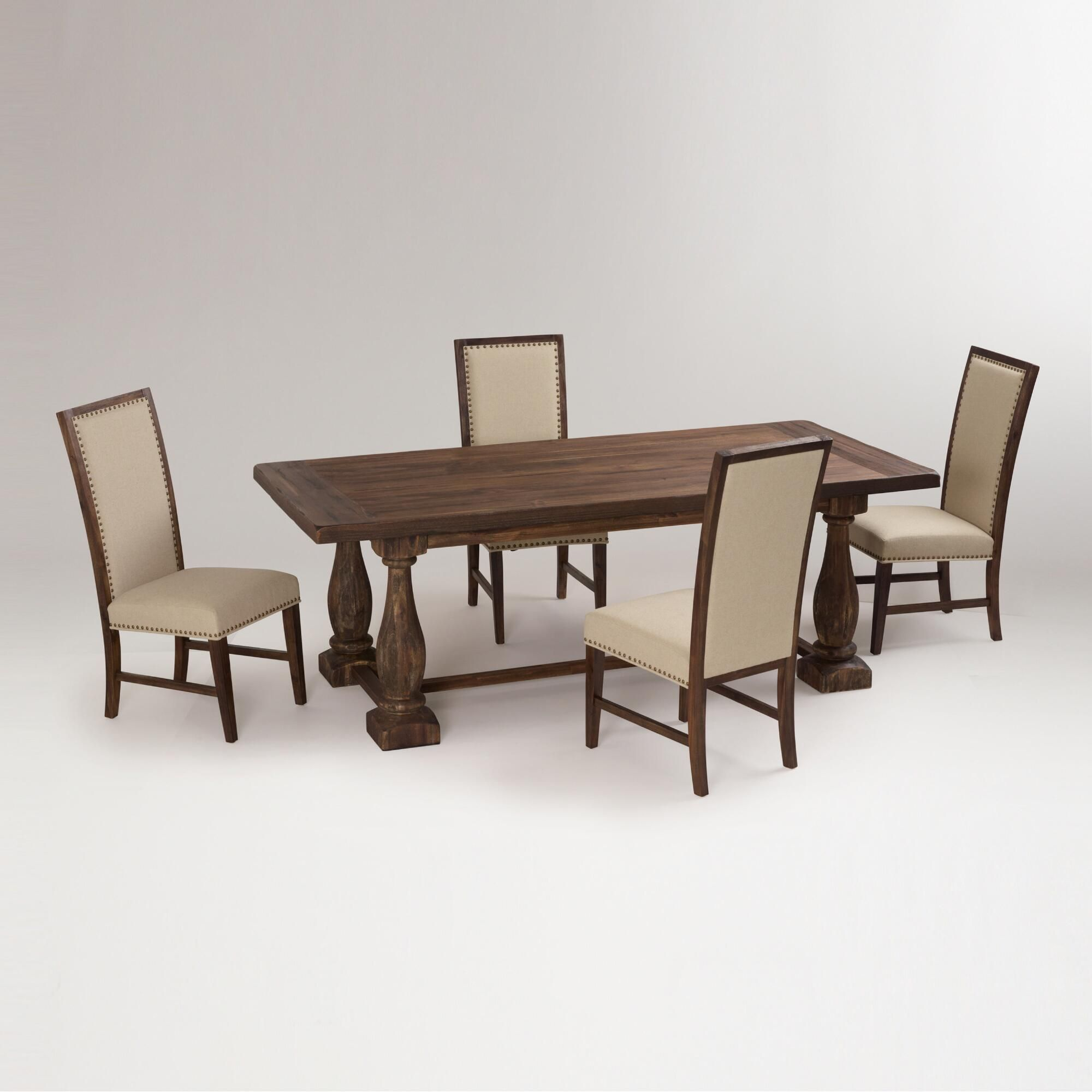 Rustic Java Greyson Fixed Dining Collection Cost Plus World Market