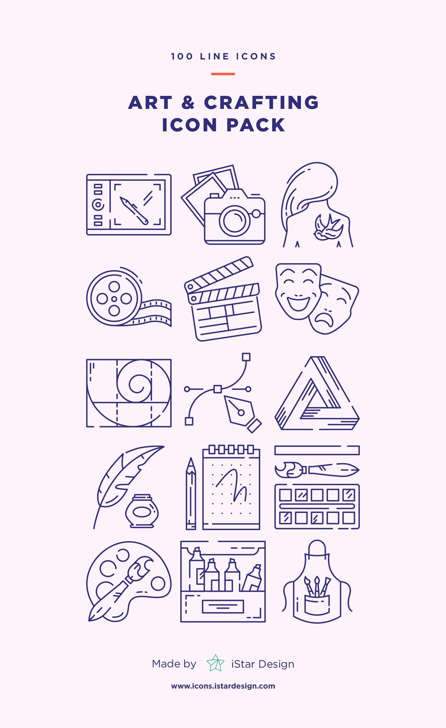 Art and Crafting Icons Set Icon set, Art icon, Icon set