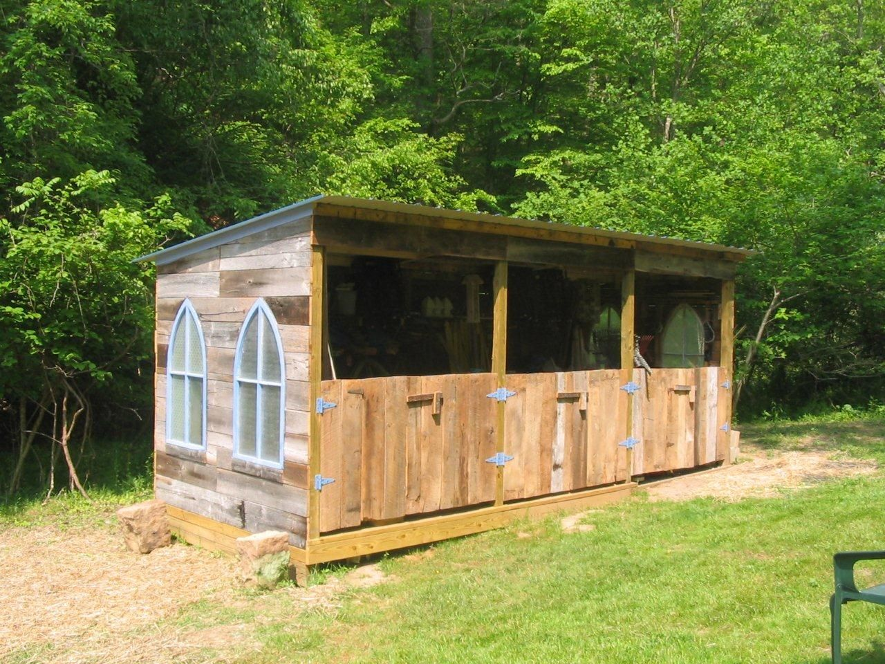 Large goat shed animal housing pinterest for Hay shed plans