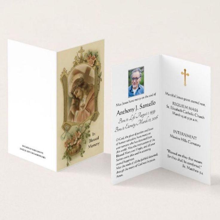 Catholic funeral cards requiem mass cards