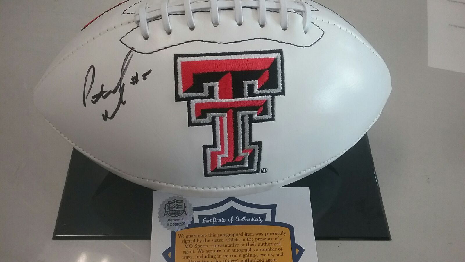 Texas Tech Red Raiders Patrick Mahomes Signed Autographed