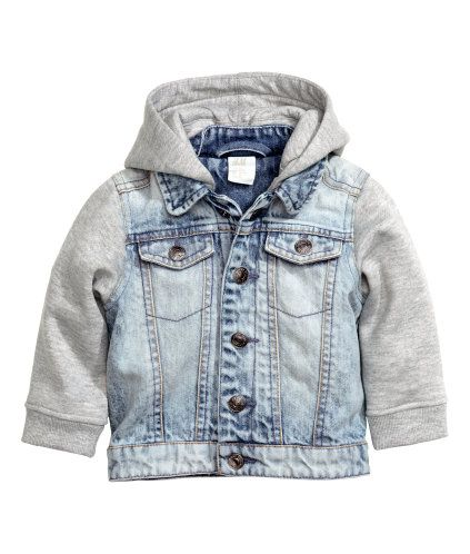 624567710f49 Hooded denim jacket