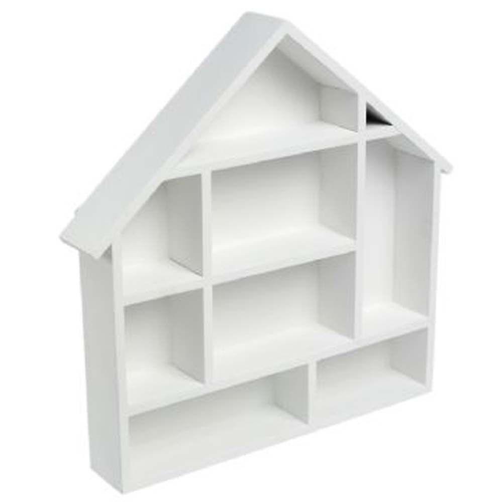 Dolls House Display Shelf House Shelves Childrens Room Storage White Doll House