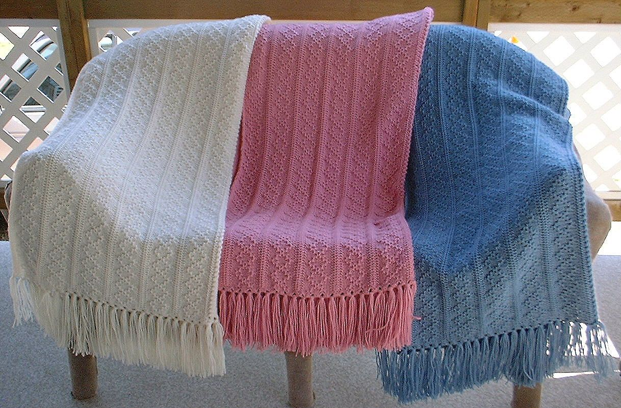Tuck Stitch Afghans, my favorite machine knit afghan pattern ...
