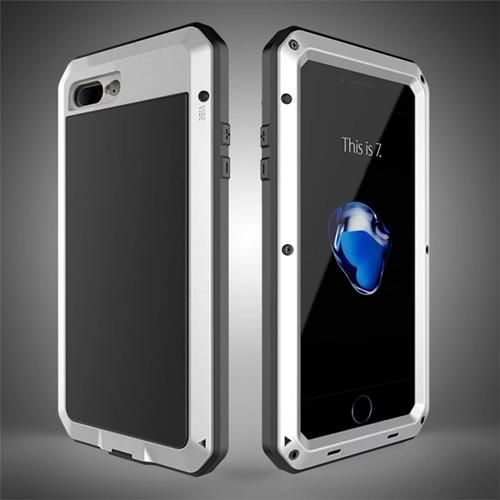 5238e1fc1f Waterproof Case for iphone 8 8plus X Luxury Doom Armor Dirt Shock Metal  Phone Cover for iphone 8 8 Plus+1pcs Tempered glass gift
