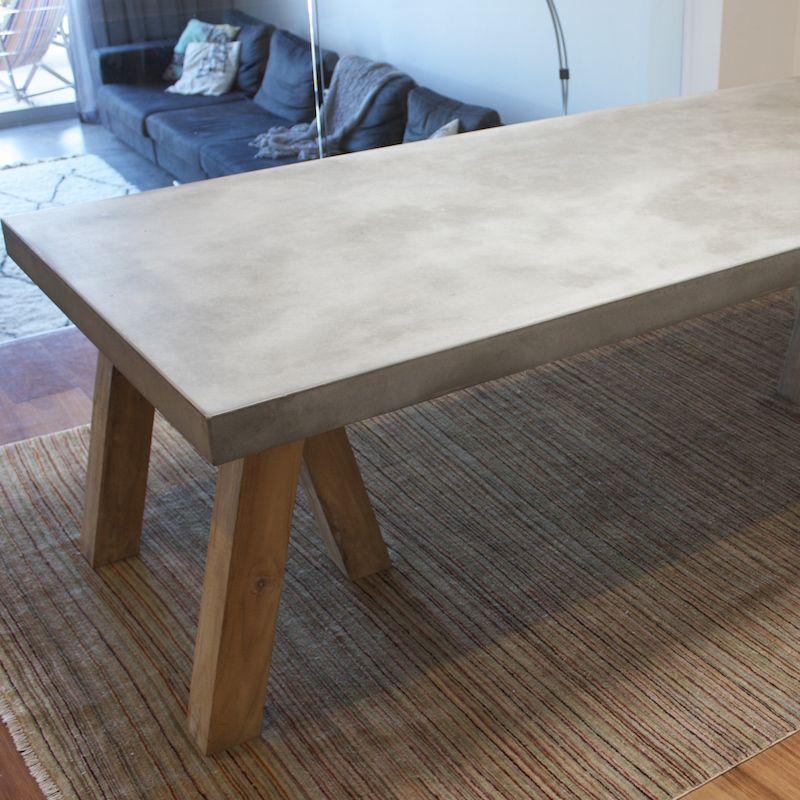 Reclaimed Concrete Blocks: Concrete And Reclaimed Teak Dining TableThe Block Shop