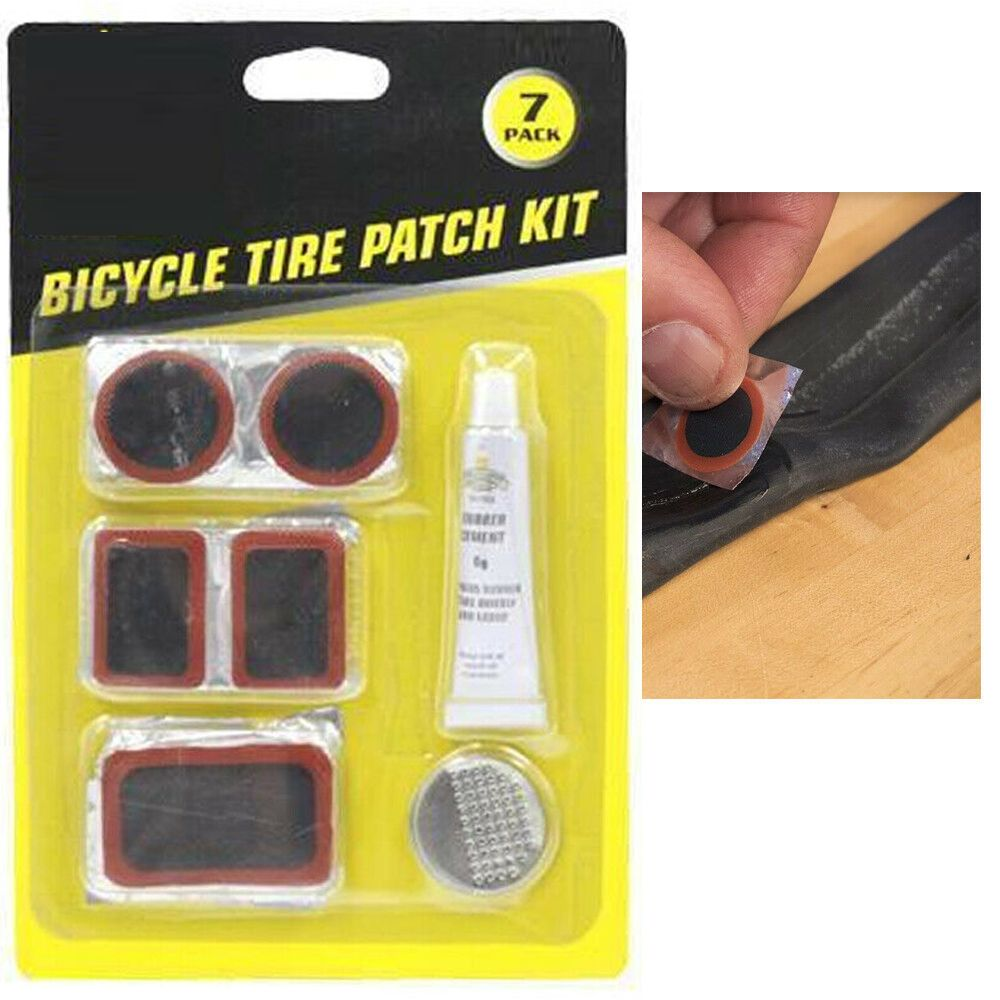 Easy Fix Bicycle Bike Flat Tire Tube Repair Patch Kit Rubber Patch Tyre Tool Kit