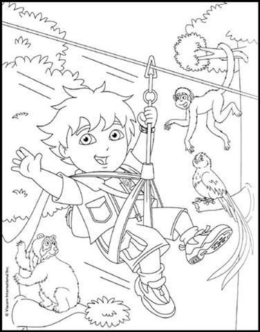 Go Diego Go Coloring Pages | Birthday Party | Pinterest | Colorear ...