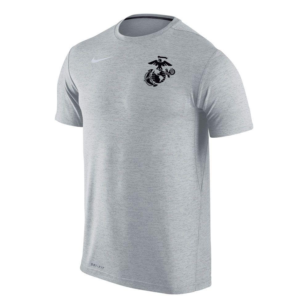 Marines Nike Dri Fit Touch Heathered T Shirt Shirts Men Nike Dri Fit [ 1000 x 1000 Pixel ]