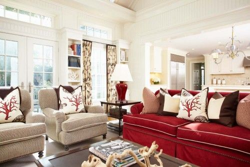 LOVE The Bold Sofa. Everyone Always Wants To Go Bold On Chairs And Neutral  On Sofas! BE BRAVE :) | House Ideas | Pinterest | Living Rooms, Brown And  Room