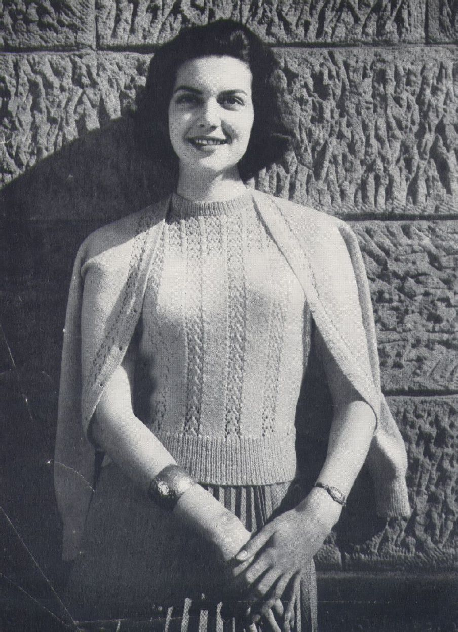 Contemporáneo Patrones Que Hacen Punto 1950 Fotos - Manta de Tejer ...