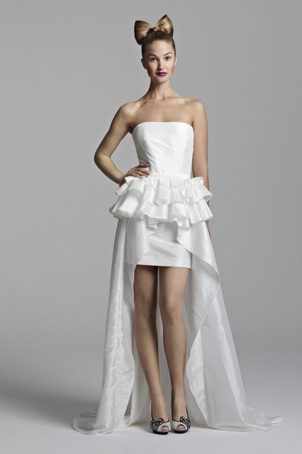 Short Wedding Dresses With Detachable Long Train Styles Of