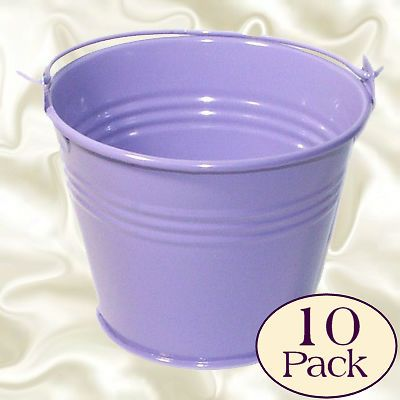 Lavender Lilac Purple Mini Favour Buckets Favor Pail Party mefabu09 BNIB 10 pack