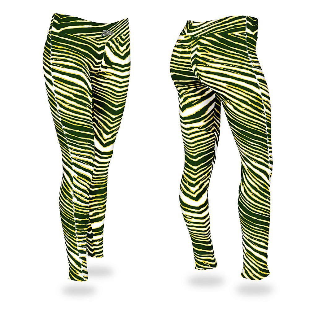Zubaz Green And Gold Zebra Print Leggings 9308546 Hsn In 2020 Zebra Print Leggings Zebra Leggings Printed Leggings