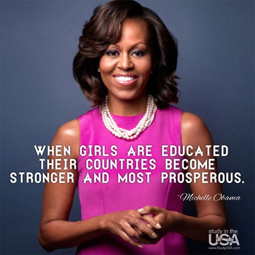 Michelle Obama Quotes About Women: Pin By Study In The USA On Quotes