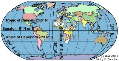 A world map displaying the equator the tropic of cancer and a world map displaying the equator the tropic of cancer and tropic of capricorn gumiabroncs Gallery