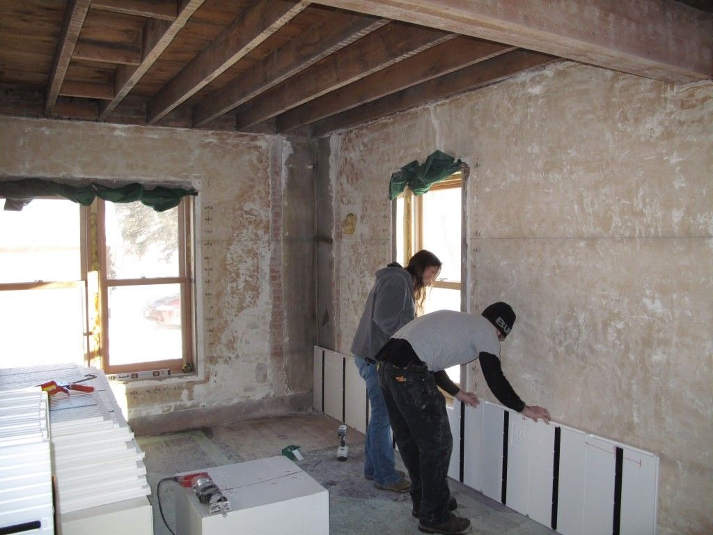 Jeremy And Melissa Retrofitted Their 19th Century Brick Home 5 Years Ago They Used Insofast Panels To Insulate Masonry Wall Interior Wall Insulation Masonry