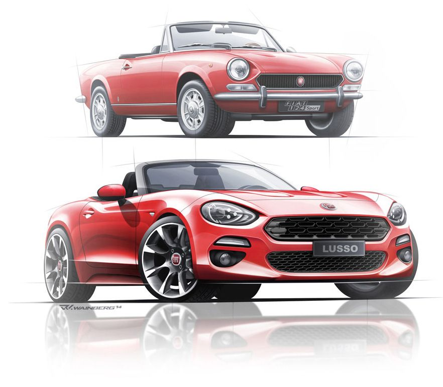 Fiat 124 Spider Convertible: SKETCHES // Sports