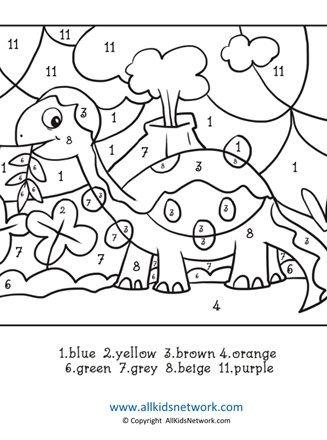dinosaur coloring page colornumbers  dinosaur