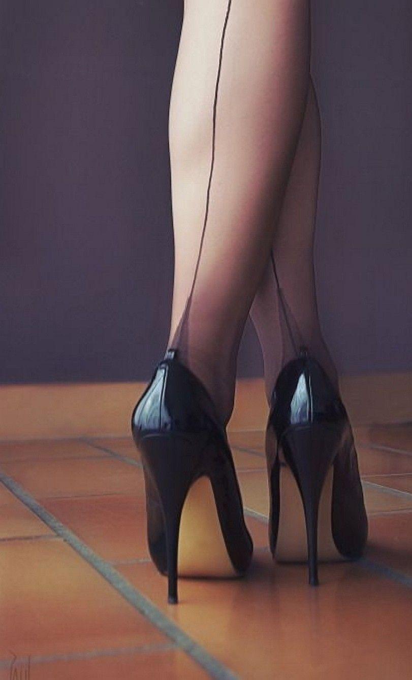 Pin by Leonardo on High heels | Nylons heels, Heels, High