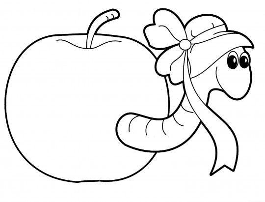 Manzanas para colorear | Dibujos de la escuela | Pinterest ...