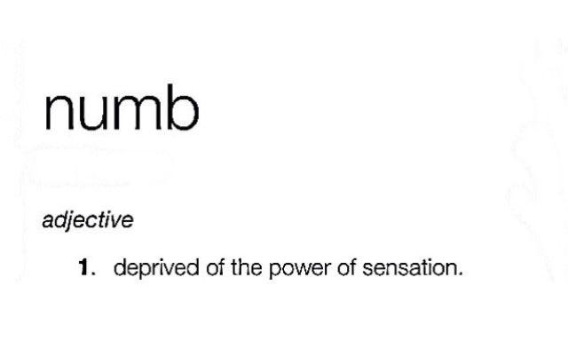 ~ numb