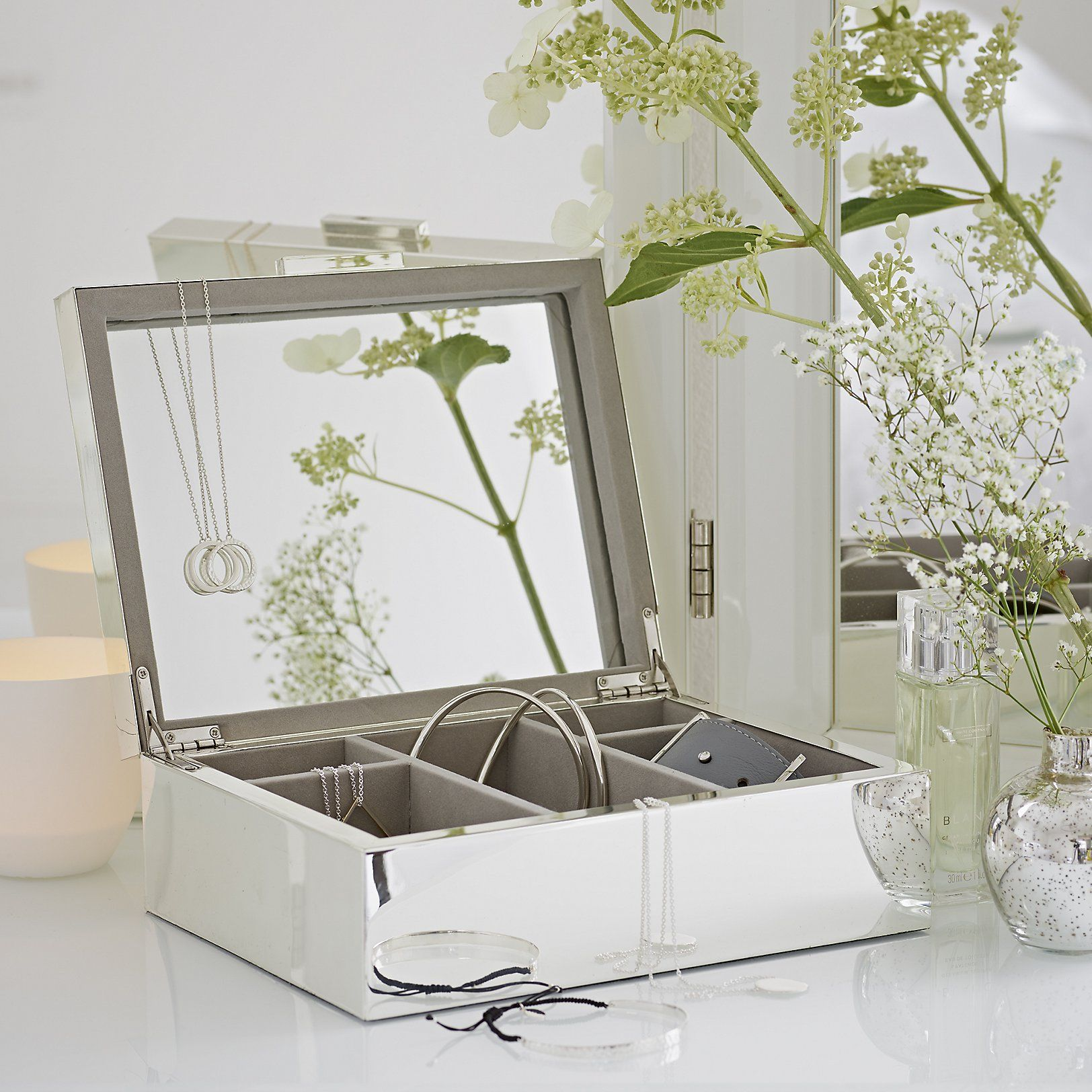 The White Company US Silver Plated Jewelry Box Inspired by 1920s
