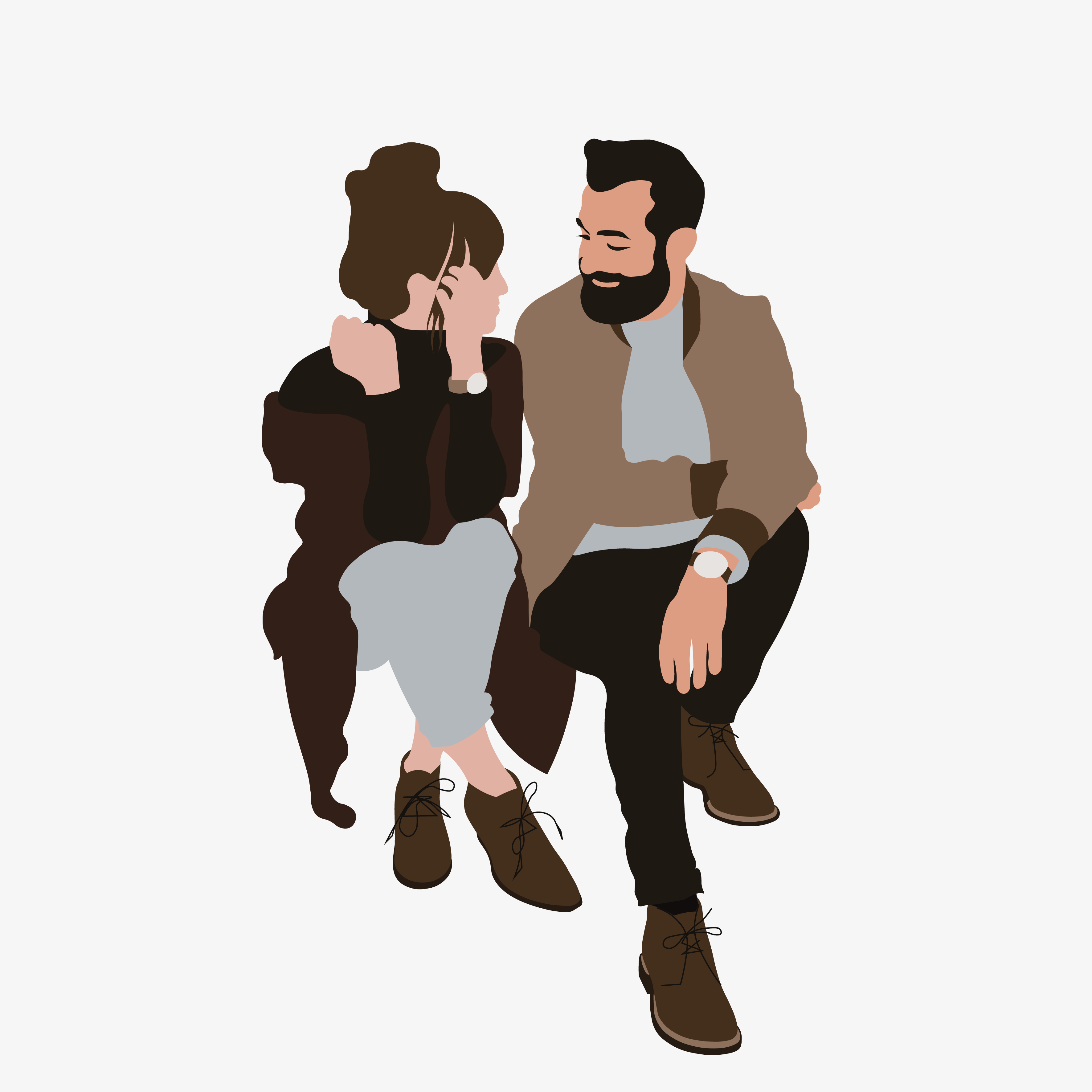Photo of Flat Vector People Illustration | Arya and Adrien