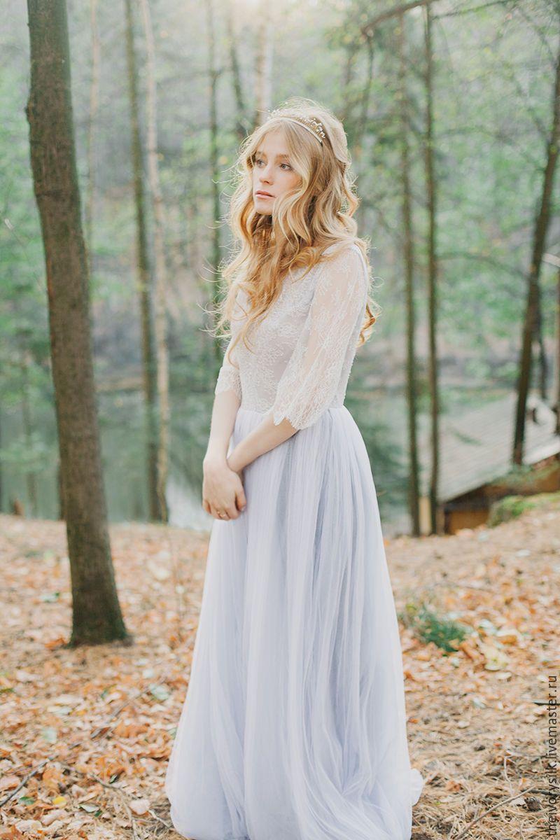 Blue grey wedding dress  Pin by ANNA on Inspired photo  Pinterest