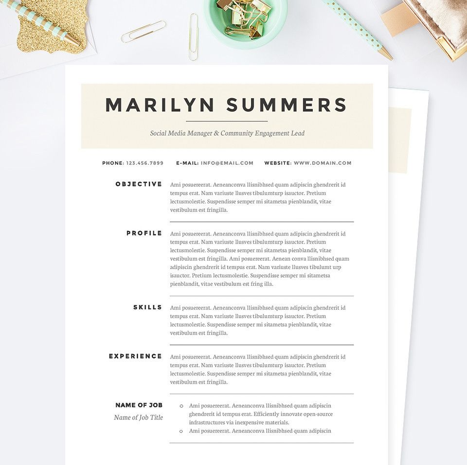 Classic Social Media Manager Resume Cover Letter  References