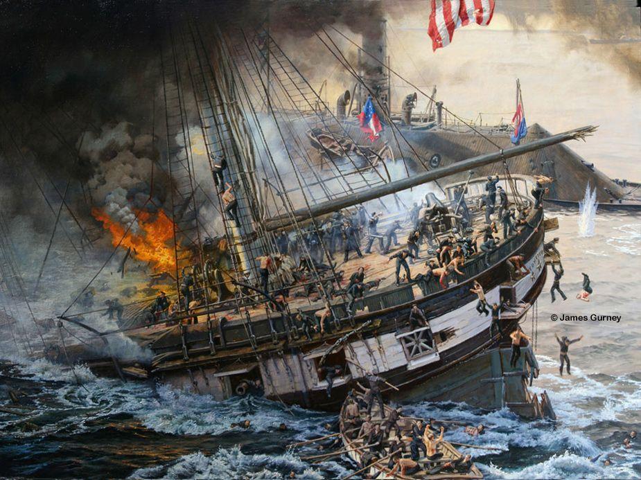 The Sinking of the USS Cumberland | Civil War Navy ...