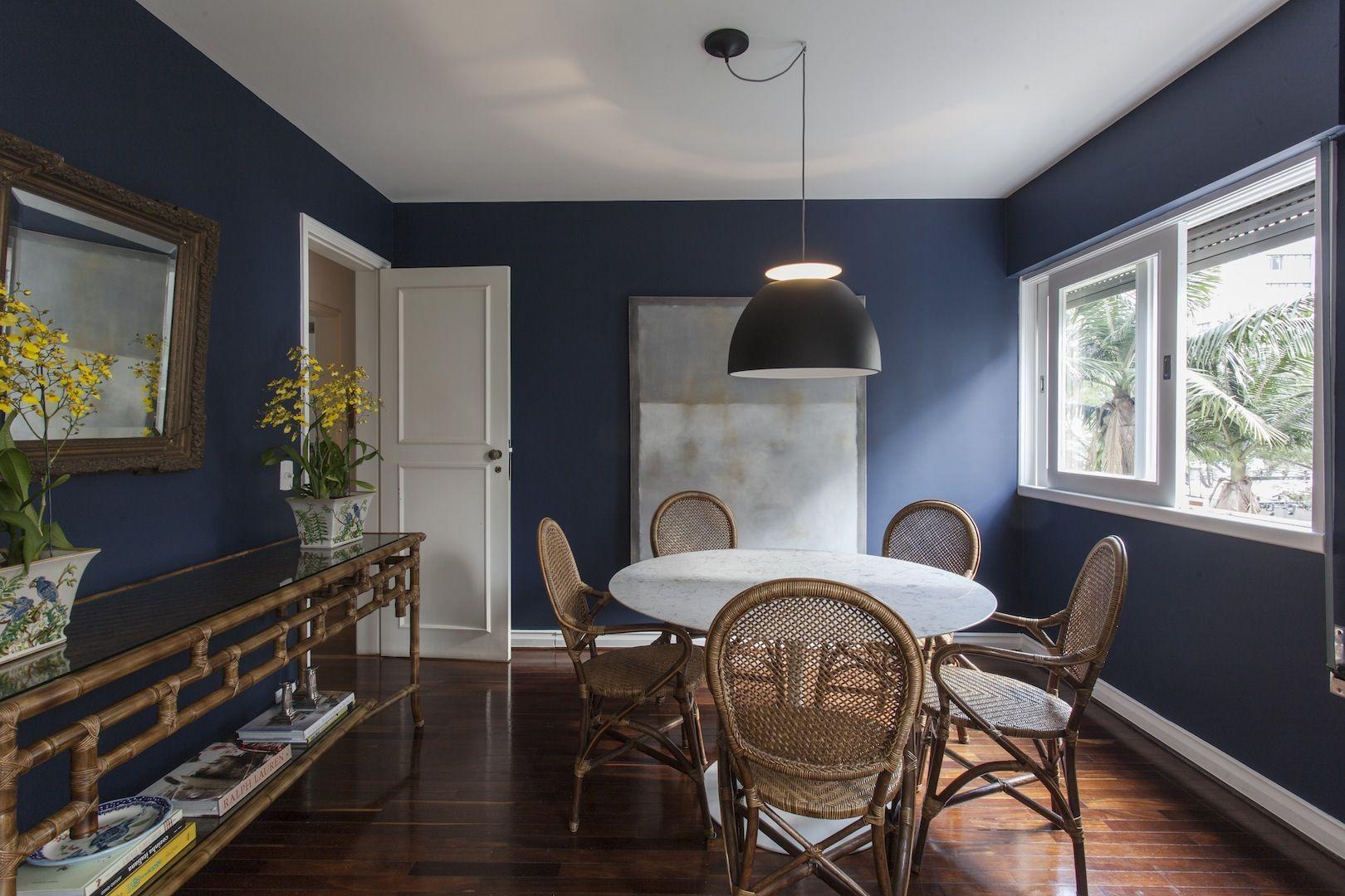 26 Salas De Jantar Incr Veis De Casapro Wall Colours Dining And  -> Cores Parede Sala Jantar
