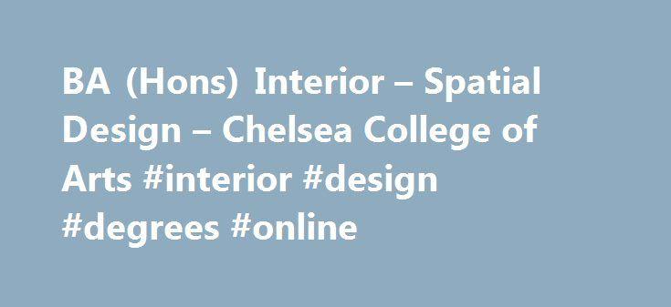 BA Hons Interior Spatial Design Chelsea College Of Arts